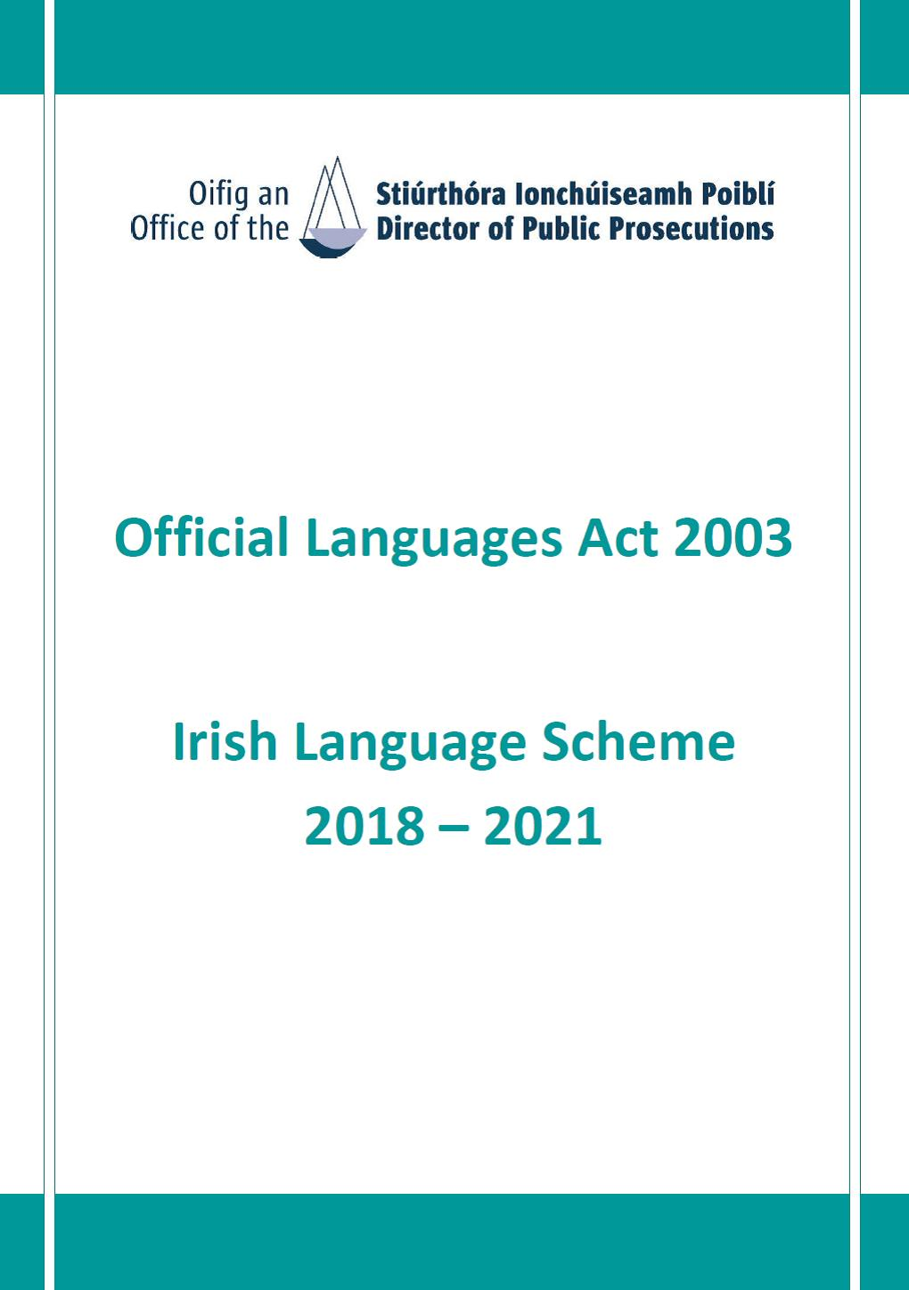 Irish Language Scheme 2018-2021 (PDF)
